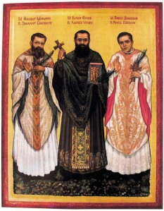 Blessed Peter Vicev, Pavel (Joseph) Džidžov and Jehoshaphat (Robert Matthew) Shishkov